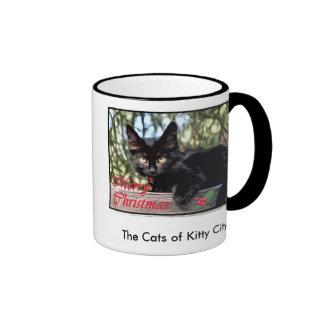 Mondo Longwhiskers Christmas card The Cats of Mug