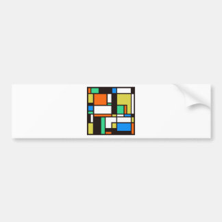 mondrian3 bumper sticker
