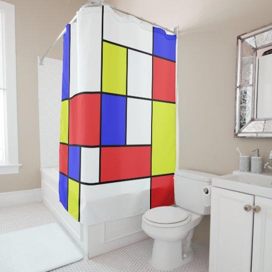 Mondrian #24 shower curtain