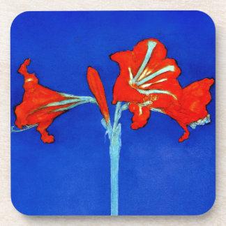 Mondrian Amaryllis Coasters