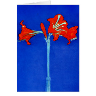 Mondrian Amaryllis Greeting Card