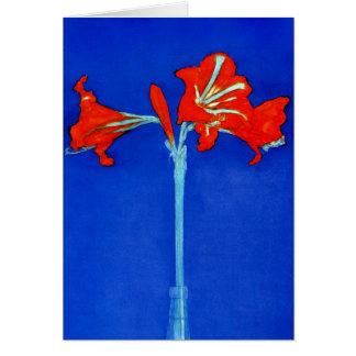Mondrian Amaryllis Note Card
