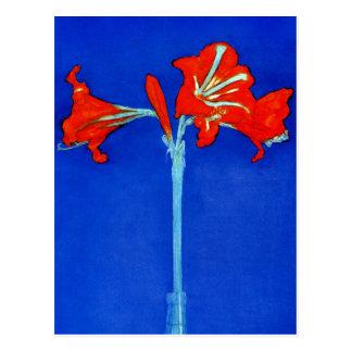 Mondrian Amaryllis Postcard