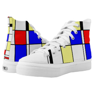 Mondrian Art Abstract Geometry Printed Shoes
