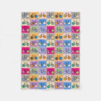 Mondrian Art Bicycle Box Pattern Blanket Fleece Blanket