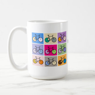 Mondrian Art Bicycle Grid Mug