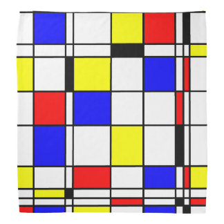 Mondrian art style bandana