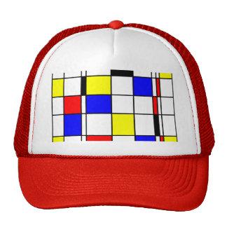 Mondrian art style cap