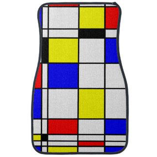 Mondrian art style car mat