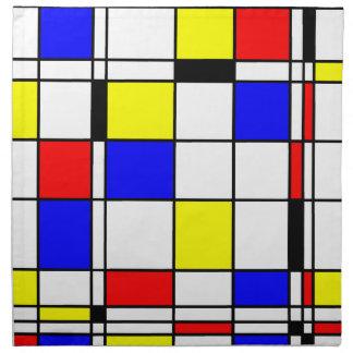 Mondrian art style napkin