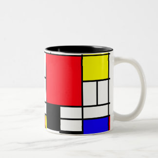 Mondrian Black 11 oz Two-Tone Mug