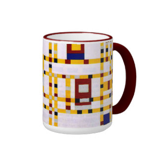 Mondrian - Broadway Boogie Woogie Ringer Mug