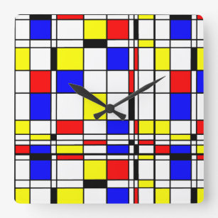 De Stijl Wall Clocks Zazzle Uk