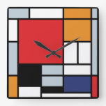 Mondrian Composition with Large Red Plane