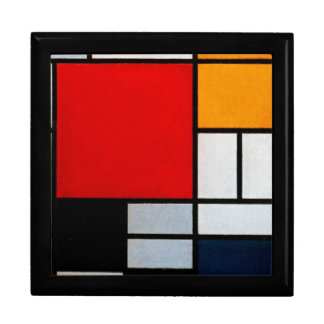 Mondrian - Composition with Large Red Plane Large Square Gift Box