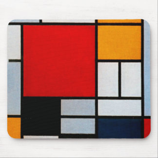 Mondrian - Composition with Large Red Plane Mouse Mat