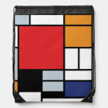 Mondrian - Composition With Large Red Plane Rucksack