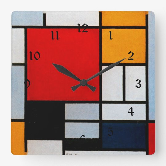 Mondrian - Composition with Large Red Plane Square