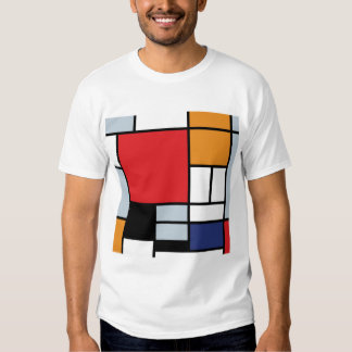 Mondrian - Composition With Large Red Plane Tshirt