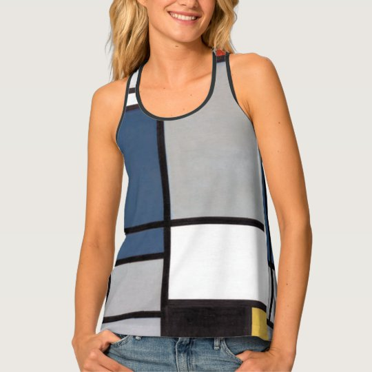 Mondrian Composition with Red, Blue, Black, Yellow Tank