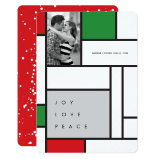 Mondrian De Stijl Minimalist Photo Holiday Card 13 Cm X 18 Cm Invitation Card