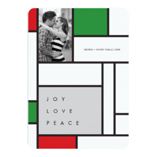 Mondrian De Stijl Minimalist Photo Holiday Card 13 Cm X 18 Cm Invitation Card