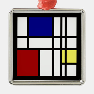 Mondrian Impression Art Christmas Ornament