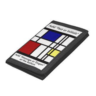 Mondrian Impression Art Tri-fold Wallet