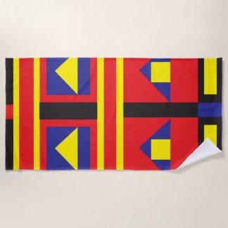 Mondrian inspired geometric bright beach towel