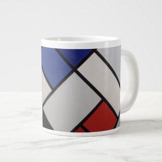 Mondrian inspired Mod Mug! Large Coffee Mug