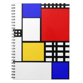 Mondrian Inspired Notebook
