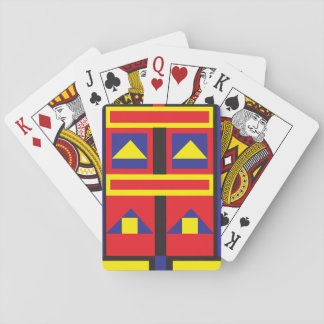Mondrian inspired playing card deck