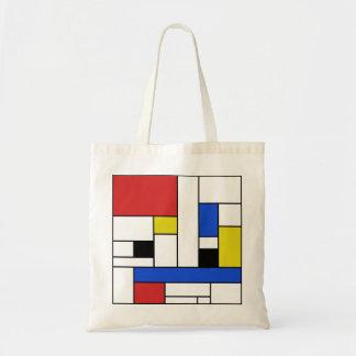 Mondrian Lines Budget Tote Budget Tote Bag
