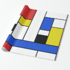 "Mondrian Lines Glossy Wrapping Paper, 30"" x 6' Wrapping Paper"