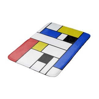 Mondrian Lines Medium Bath Mat