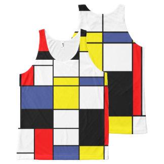 Mondrian, minimalist All-Over print tank top