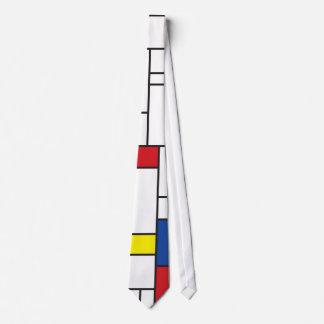 Mondrian Minimalist De Stijl Art Custom Tie