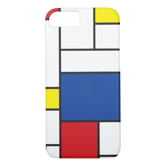 Mondrian minimalist de stijl art iphone 6 case zazzle for Case minimaliste moderne
