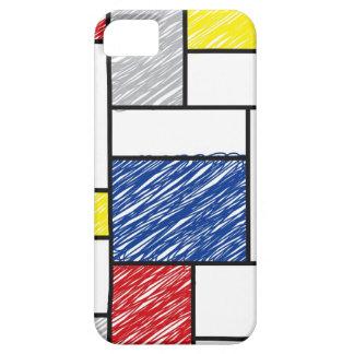 Mondrian Minimalist De Stijl Art Scribbles iPhone