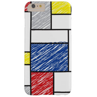 Mondrian Minimalist De Stijl Art Scribbles iPhone Barely There iPhone 6 Plus Case
