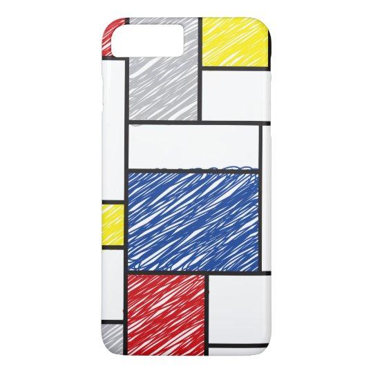Mondrian Minimalist De Stijl Art Scribbles iPhone iPhone