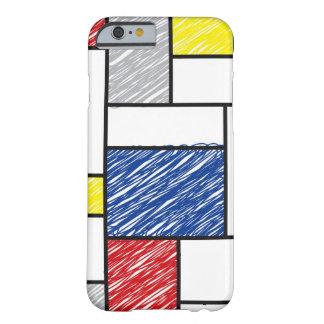 Mondrian Minimalist De Stijl Art Scribbles iPhone iPhone 6 Case
