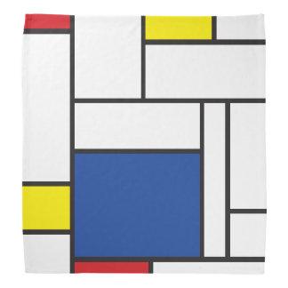 Mondrian Minimalist De Stijl Modern Art Bandana