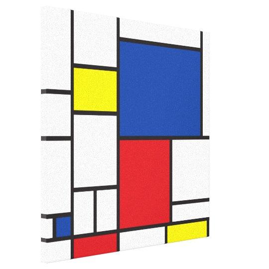 Mondrian Minimalist De Stijl Modern Art Custom Canvas