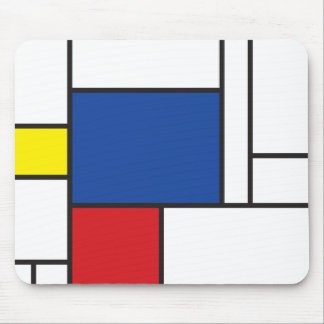 Mondrian Minimalist De Stijl Modern Art Simple Mouse Mat