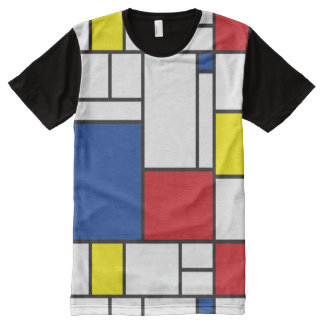 Mondrian Minimalist De Stijl Modern Art T-shirt