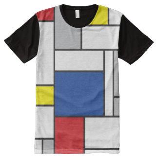 Mondrian Minimalist De Stijl Modern Art T-shirt All-Over Print T-Shirt