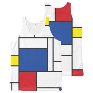 Mondrian Minimalist De Stijl Modern Art Tank Top