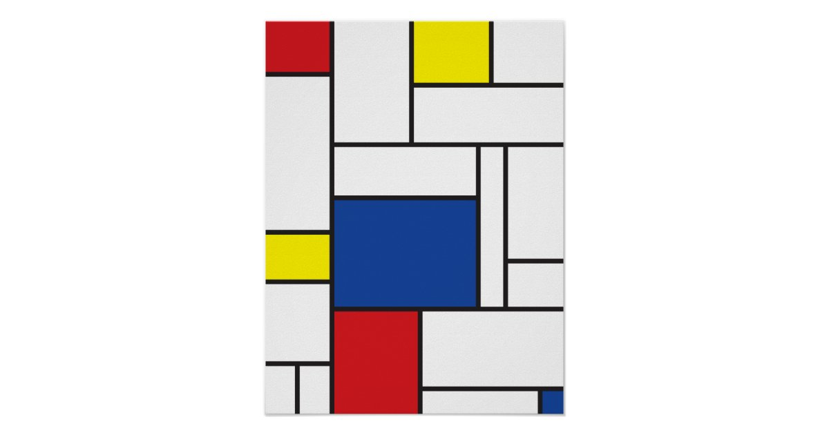 Minimalist Classroom Uk ~ Mondrian minimalist de stijl wall art poster print