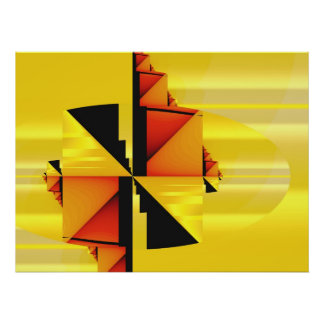 Mondrian Modern Abstract Fractal Art Print